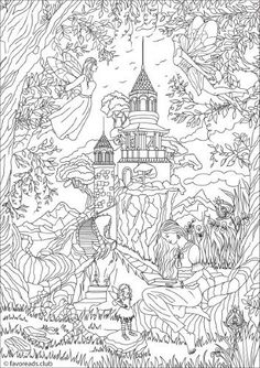 Advanced Coloring Pages for Adults | Coloring Pages Fantasy ... | 334x236