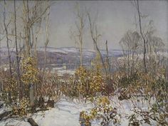 """Overlooking the Delaware"" Edward Redfield 1919"