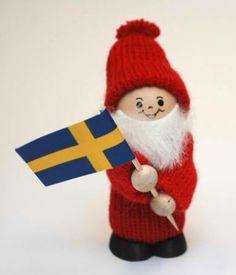 swedish dolls | Swedish Tomte Doll with Flag | Tomte | Pinterest