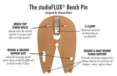 Perno de StudioFlux Banco de trabajo herramienta de la joyería