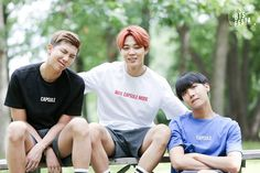 Rap Monster, Jimin 지민, and J-Hope 제이홉 of Bangtan Boys 방탄소년단 2016