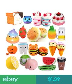 Squeeze Toys Adaptable 1pc Squishy Toys Slow Rising Icecream Jumbo Squishi Squeeze Toy Squishes No Sound Decoration Kindergarten Stress Relief Toy