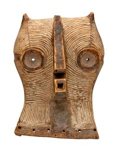 """Africa   """"Kifwebe"""" mask from the Luba people of DR Congo   Wood and pigment"""