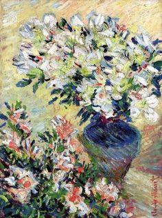 Claude Monet, Azaleas (1885) on ArtStack #claude-monet #art