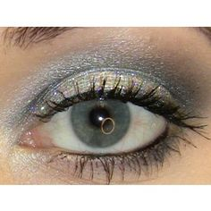 silver+blue makeup
