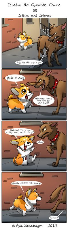 Ichabod the Optimistic Canine :: Sticks and Stones | Tapastic Comics - image 1