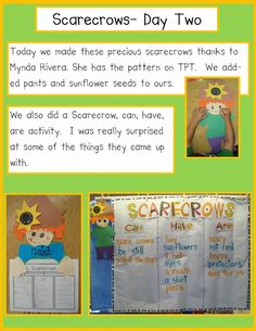 Golden Gang Kindergarten: Scarecrows- Day 2