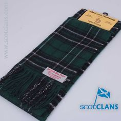 Brushed wool scarf in MacLean of Duart Hunting tartan - from Scotclans