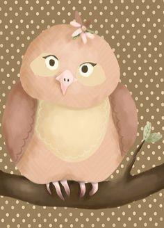 Olga the Owl Canvas Art