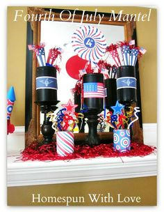 Getting ready to celebrate the Have you started any of your Fourth of July crafting and decorating yet? We were able to squeeze in a l. Patriotic Party, 4th Of July Party, Fourth Of July, Red White And Boom, Country Birthday, Holiday Crafts, Holiday Ideas, Holiday Decor, 4th Of July Decorations