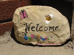 Welcome Rock craft Perfect Mother's Day Gift Idea