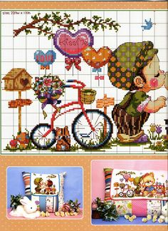 Cross Stitching, Cross Stitch Embroidery, Cross Stitch Patterns, Cross Stitch For Kids, Cross Stitch Baby, Cross Stitch Collection, Cross Stitch Needles, Girl Cartoon, Pattern Making