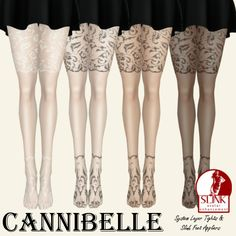 ~Cannibelle~ Shimmy Tights with Slink Feet Appliers | Flickr - Photo Sharing!