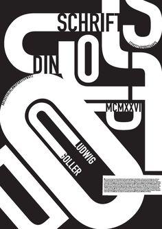 DIN Shrift typography poster | 2011