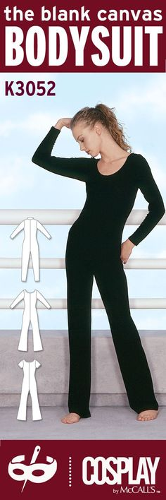 Cosplay Sewing 101: Choose a basic bodysuit pattern, like K3052, and customize it to suit your character.