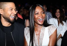 I love this photo all smiles 😍. #HoodByAir show: @NaomiCampbell, @JussieSmollett. #NYFW - #FashionWeek Sunday, 11 September 2016. * * * #JussieSmollett #handsome #wellgroomed #beard #dimples #unique #personality #RARE  #charisma #activist #passion #purpose #love #heart #different #selfless #Empire #humble #gentleman #LotsofLoveforJussie #NaomiCampbell #Model #Fashion #NYC #NewYork