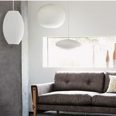 George Nelson Bubble Crisscross Saucer Ceiling Light