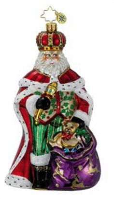Christopher Radko Ornaments 2014 | Radko Santa Christmas Ornament His Royal Highness