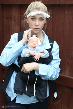 YESSS!!! Best baby costume ever.  Dr. Evil and Mini Me - 2013 Halloween Costume Contest