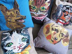 Coussins chiens et chats // Nathalie Lété