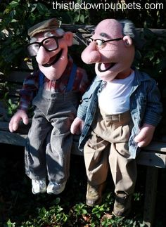 old man puppets
