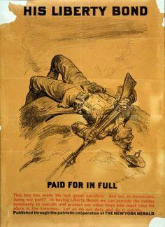 Vintage POSTER.Stylish Graphics.1918 Liberty Bonds.Wall Art Decor.1236