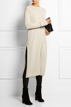 Oatmeal cashmere Slips on 100% cashmere Dry clean