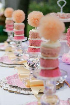 Adorable tea part cakes