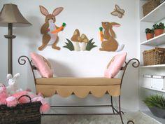 bunny felt wall decor nursery or kids room