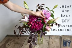 It's easier than you think. // How to Cheaply Make Your Own Flower Arrangements