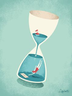 Editorial illustrations for Rebook magazine, about useful time-saving tips.