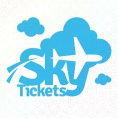 A place for graphic designers to discuss work and life. Sky Logo, Typo Logo, Logo Branding, Travel Agency Logo, Travel Logo, Negative Space Logos, Logo Desing, Make Your Own Logo, Premium Logo