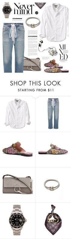"""""""Casual style"""" by cilita-d ❤ liked on Polyvore featuring Banana Republic, Off-White, BoConcept, Gucci, Chloé, Dorothy Perkins, Rolex, Garance Doré and Ternary London"""