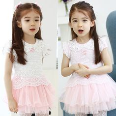 Baby Lace Short Sleeve Dress Girls Summer Mesh Tiered Dresses,High Quality dresses lemon,China dress fur Suppliers, Cheap dresses loose from Kids Fashion Clothing - Worldwide Wholesale  on Aliexpress.com
