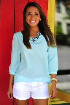 HOPE'S: The Color Of Hope Top: Mint
