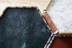 lars hofsjö recycles swedish rag rugs into torp and dunker tables Scandinavian, Recycling, Sculpture, Rag Rugs, Sustainable Design, Shape, Inspiration, Marble, Chart