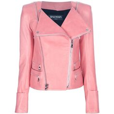 BALMAIN fitted biker jacket (14.464.290 COP) ❤ liked on Polyvore featuring outerwear, jackets, balmain, chaquetas, coats & jackets, giacche, zipper jacket, red biker jacket, biker jacket and long sleeve jacket