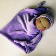 Waldorf doll 12 inch Waldorf Toy Blanket Doll Baby by germandolls