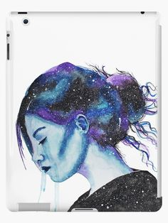This is the first and original painting that started off my 'Universe Girls' series. Each one encompasses a strong emotion I was feeling at the time of painting. They're very special to me and I hope you'll like them too. • Also buy this artwork on phone cases, apparel, stickers, and more.