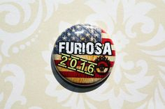 Furiosa One Inch Pinback Button by ThereWillBeButtons on Etsy