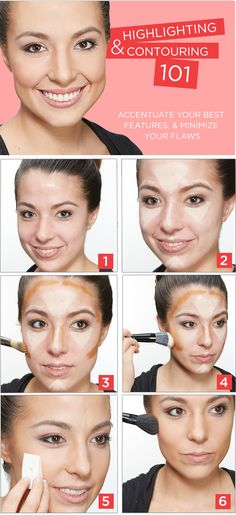Highlighting and Contouring 101. How To Accentuate Your Best Features While Minimizing Flaws. #SallyBeauty
