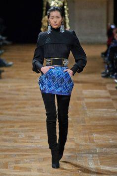 A skirt like sapphire. Balmain Fall 2013 #runway #fashionweek