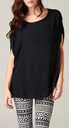 Silky Reese Tunic in Black