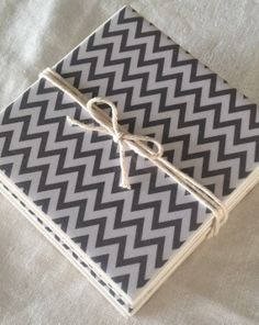 Ceramic Tile Coasters  Grey Chevron Style by RetroPickles on Etsy, $14.00