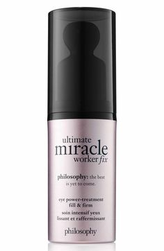 What it is: A power treatment that is philosophy's first super-tasker for the delicate skin around the eye.