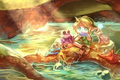 Link and the Musical Frogs from Ocarina of Time!
