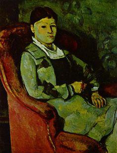 Paul Cézanne.  Porträt Madame Cézanne. 1881, Öl auf Leinwand, 81 × 66 cm. Zürich, Sammlung E. G. Bührle. Frankreich. Postimpressionismus.  KO 01169