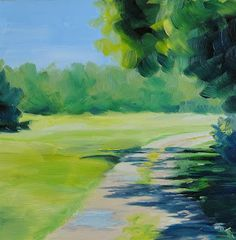 Janet Paden's Paintings: Carriage Hill Farm, 6x6 oil on gesso board  - SOLD