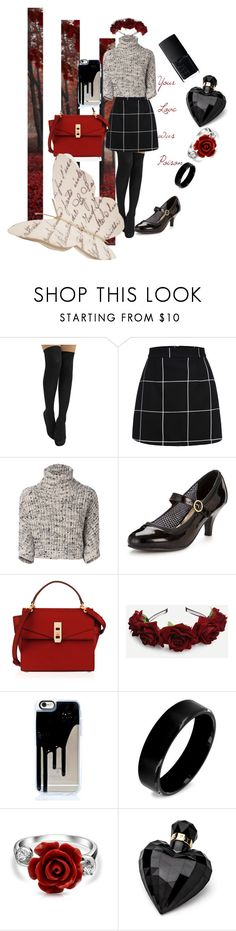 """""""Poison Love"""" by musie-della ❤ liked on Polyvore featuring Brunello Cucinelli, Head Over Heels, Henri Bendel, West Coast Jewelry, Bling Jewelry, Lipsy, NARS Cosmetics, Fall, red and rose"""