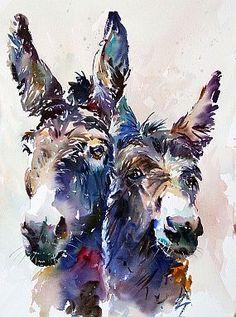 Donkey Duo.Copyright © J M Winkle 2012
